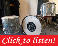 Rewrap 26,15,18 thunder kit of Ludwig & Tama