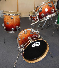 DW Custom 16, 12, 13 w/matching snare