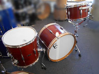 C & C Drums, Mahogany Player Date, 20, 12, 14