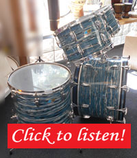 Ludwig, Oyster Blue Pearl, 22, 12, 13, 16