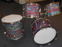 Ludwig 1971 psychedelic red 20, 12, 13, 16