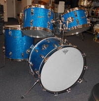 Rogers 1964 Blue Glass Glitter 22, 12, 13, 16