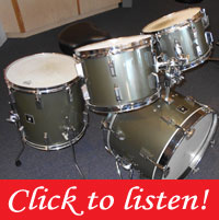 Sonor 1978 Pewter Metallic Beech wood shells