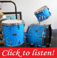 Sonor 1960,s Aqua Blue Satin Flame! 20, 13, 16