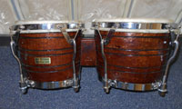 JCR bongos 8 and 9 inches, mule skin