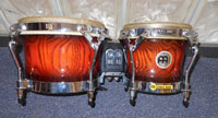 Meinl woodcraft bongos, 7 and 9 inches, Antique Mahogany Burst