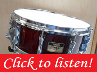Yamaha Birch Custom Snare Drum 5.5x14 in Cherry Wine Red Lacquer