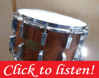 1980s Sonor Signature Series Bubinga Snare Drum