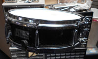 Sonor 1960s Black Charcoal, Beech wood, 14 X 4.5