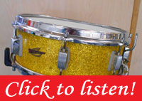 1960 Trixon Snare Drum 5x14 Made in Germany Lemon Yellow Sparkle